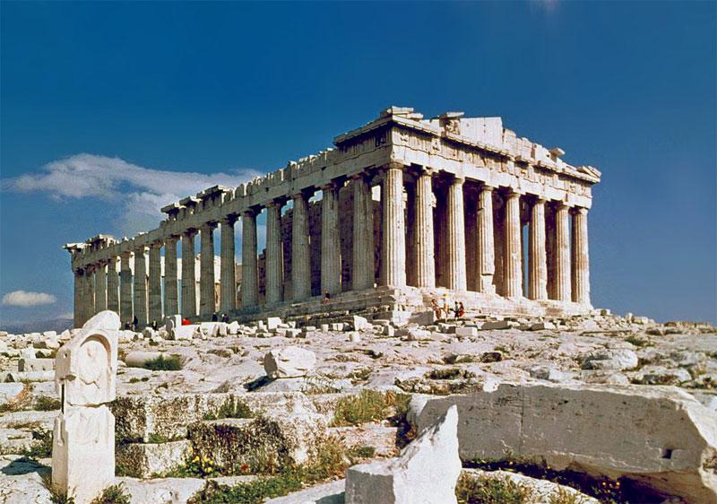 Парфенон - самый величественный храм Афинского Акрополя