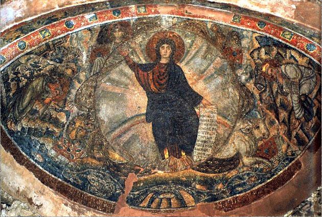 Мозаика алтаря монастырской церкви Святого Давида