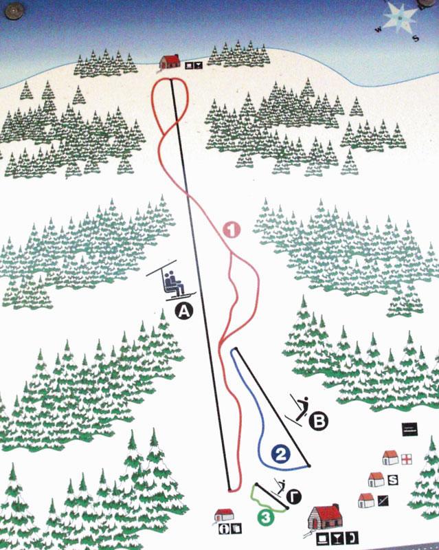 План-схема трасс горнолыжного центра Пертули